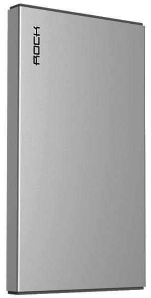 Универсальный внешний аккумулятор Rock Stone Power Bank 5000 mAh 2.4 А, USBx1 металл space gray