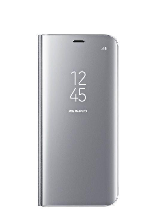 Чехол-книжка Samsung Clear View Standing Cover для Galaxy S8+ поликарбонат прозрачно-серебристыйдля Samsung<br>Чехол-книжка Samsung Clear View Standing Cover для Galaxy S8+ поликарбонат прозрачно-серебристый<br>