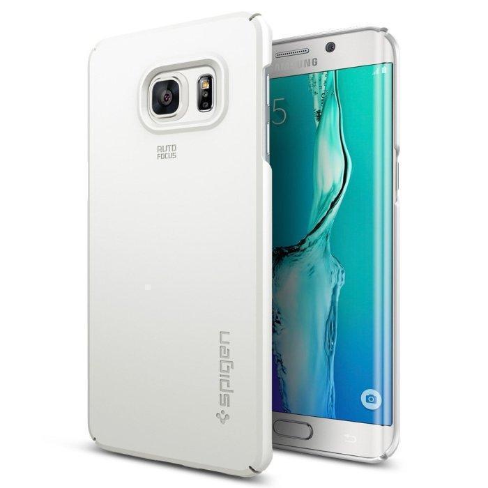 Чехол-накладка Spigen SGP11697 Thin Fit для Samsung Galaxy S6 Edge Plus White