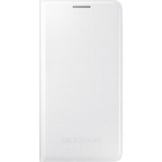 Чехол-книжка Samsung View Cover для Galaxy Alpha пластик полиуретан белый (EF-FG850BWEGRU)