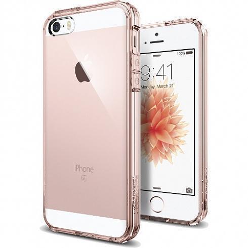Чехол-накладка Spigen Ultra Hybrid для Apple iPhone SE/5S/5 Rose Crystal (SGP 041CS20172)для iPhone 5/5S/SE<br>Чехол-накладка Spigen Ultra Hybrid для Apple iPhone SE/5S/5 Rose Crystal (SGP 041CS20172)<br>