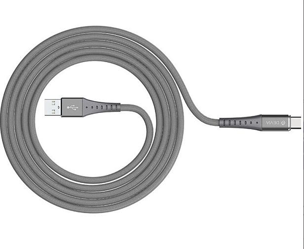 Кабель Devia Pheez Series Cable USB/Type-C 100 см (Silver) (329401)