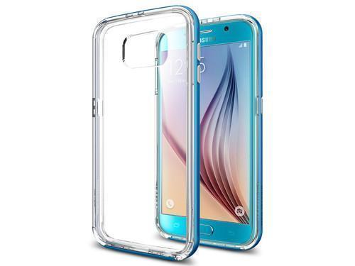 Чехол-накладка Spigen Neo Hybrid CC SGP11511 для Galax S6 пластик, силикон синийдля Samsung<br>Чехол-накладка Spigen Neo Hybrid CC SGP11511 для Galax S6 пластик, силикон синий<br>