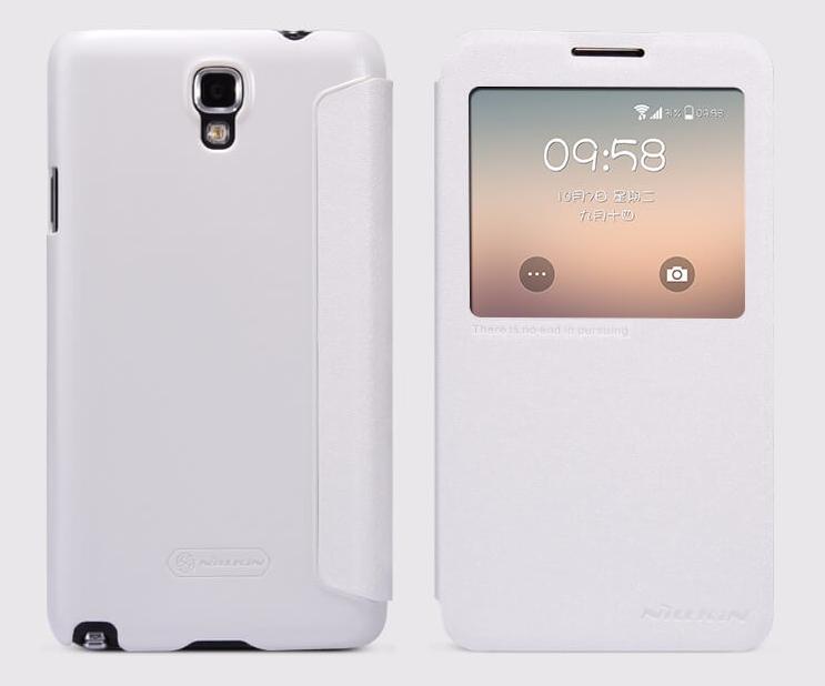 Чехол-книжка Nillkin Sparkle Series для Samsung Galaxy Note 3 Neo N7505 пластик-полиуретан белый