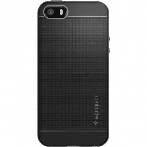 Чехол-накладка Spigen Neo Hybrid для Apple iPhone SE/5S/5 Satin Silver (SGP 041CS20185)для iPhone 5/5S/SE<br>Чехол-накладка Spigen Neo Hybrid для Apple iPhone SE/5S/5 Satin Silver (SGP 041CS20185)<br>