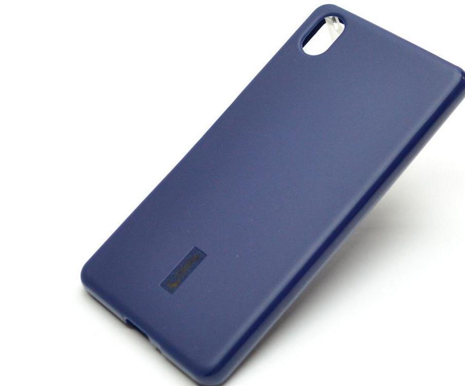 Чехол-накладка Cherry для Sony Xperia X Performance силиконовый матовый (синий) фото