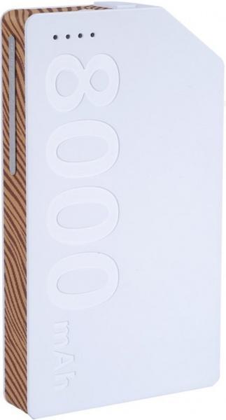 Универсальный внешний аккумулятор Remax Kang Platinum 8000 mAh 1.5 А, USBx1 пластик WhiteУниверсальные внешние аккумуляторы<br>Универсальный внешний аккумулятор Remax Kang Platinum 8000 mAh 1.5 А, USBx1 пластик White<br>