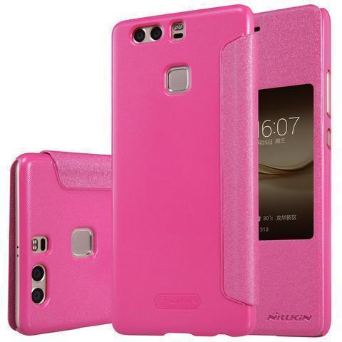Чехол-книжка Nillkin Sparkle Series для Huawei P9 Plus пластик-полиуретан (розовый)для Huawei<br>Чехол-книжка Nillkin Sparkle Series для Huawei P9 Plus пластик-полиуретан (розовый)<br>