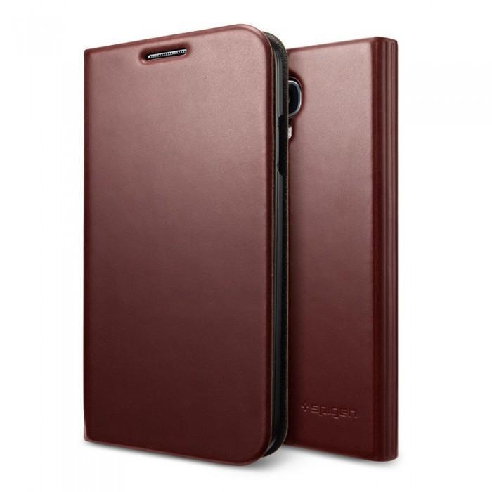 Чехол-книжка Spigen Slim Wallet S SGP10283 для Samsung Galaxy S4 пластик, кожа Темно-коричневыйдля Samsung<br>Чехол-книжка Spigen Slim Wallet S SGP10283 для Samsung Galaxy S4 пластик, кожа Темно-коричневый<br>