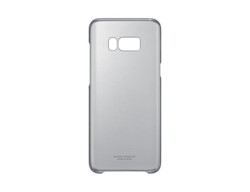 Чехол-накладка Samsung Clear Cover для Galaxy S8+ пластик прозрачно-черный (EF-QG955CBEGRU)для Samsung<br>Чехол-накладка Samsung Clear Cover для Galaxy S8+ пластик прозрачно-черный (EF-QG955CBEGRU)<br>