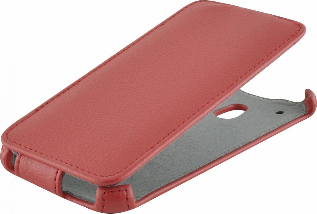 Чехол-книжка Armor Case для HTC One mini искусственная кожа красный