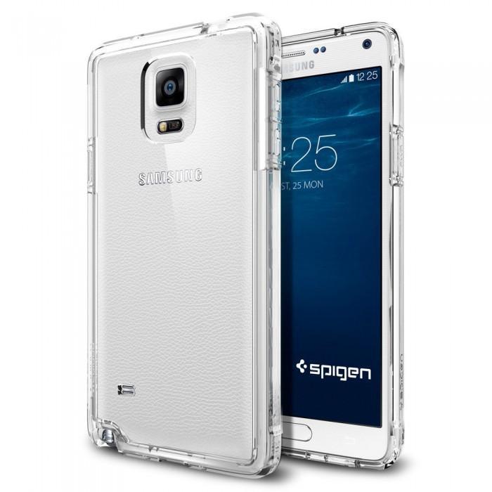 Чехол-накладка Spigen Ultra Hybrid SGP11117 для Samsung Galaxy Note 4 Прозрачныйдля Samsung<br>Чехол-накладка Spigen Ultra Hybrid SGP11117 для Samsung Galaxy Note 4 Прозрачный<br>