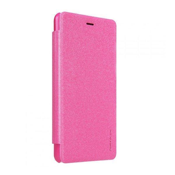 Чехол-книжка Nillkin Sparkle Series для Xiaomi Redmi 3 Pro/ 3S / 3X пластик-полиуретан (розовый)для Xiaomi<br>Чехол-книжка Nillkin Sparkle Series для Xiaomi Redmi 3 Pro/ 3S / 3X пластик-полиуретан (розовый)<br>