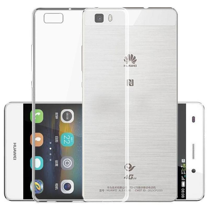 Чехол-накладка для Huawei Ascend P8 Lite силиконовый с жесткой основой (прозрачный) фото