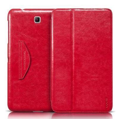 Чехол-книжка Hoco Crystal для Samsung Galaxy Tab 4 8.0 T330/T331 натуральная кожа красный