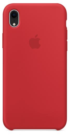 Купить Чехол-накладка Silicone Case для iPhone Xr силиконовый красный