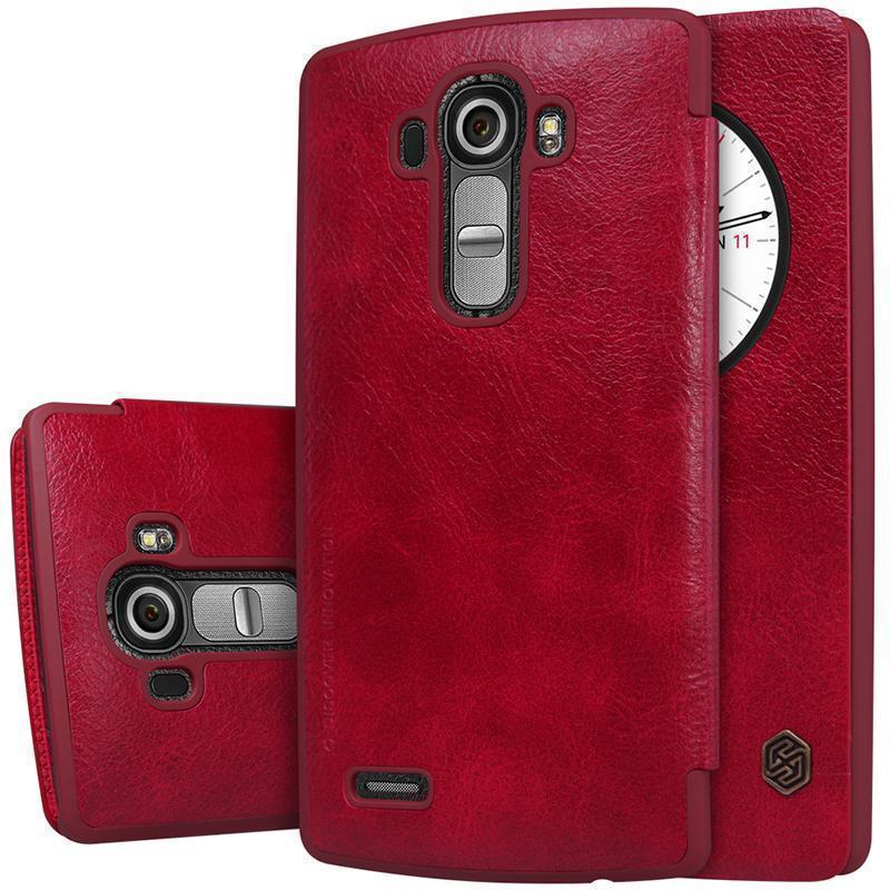 Чехол-книжка Nillkin QIN Leather Case для LG G4s (H736 / H734) натуральная кожа (красный)для LG<br>Чехол-книжка Nillkin QIN Leather Case для LG G4s (H736 / H734) натуральная кожа (красный)<br>