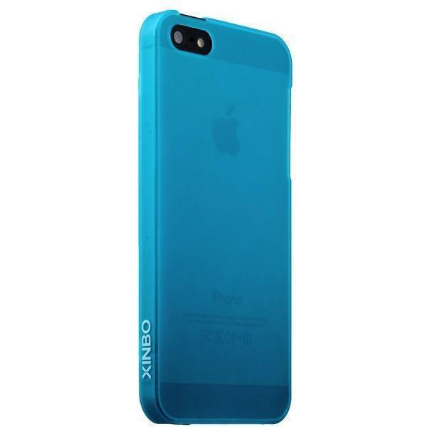 Купить Чехол-накладка Xinbo 0.3mm для Apple iPhone SE/5S/5 пластиковый голубой