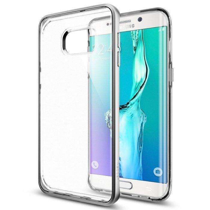 Чехол-накладка Spigen Neo Hybrid Crysta SGP11719 для Galaxy S6 Edge Plus силикон, пластик серебристыдля Samsung<br>Чехол-накладка Spigen Neo Hybrid Crysta SGP11719 для Galaxy S6 Edge Plus силикон, пластик серебристы<br>