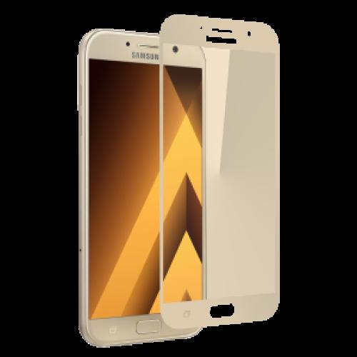 Защитное стекло Glass PRO (Full) Screen для Samsung Galaxy A3 (2017) A320 цветное золотая рамкадля Samsung<br>Защитное стекло Glass PRO (Full) Screen для Samsung Galaxy A3 (2017) A320 цветное золотая рамка<br>