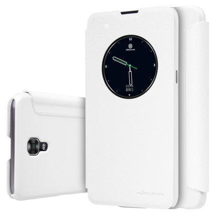 Чехол-книжка Nillkin Sparkle Series для LG X View  (K500DS) пластик-полиуретан (белый)для LG<br>Чехол-книжка Nillkin Sparkle Series для LG X View  (K500DS) пластик-полиуретан (белый)<br>