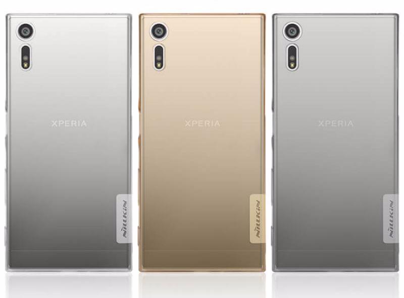 Чехол-накладка Nillkin Nature для Sony Xperia XZ / XZ Dual силиконовый прозрачно-золотойдля Sony<br>Чехол-накладка Nillkin Nature для Sony Xperia XZ / XZ Dual силиконовый прозрачно-золотой<br>