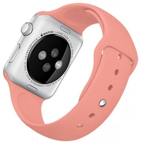 Ремешок силиконовый Rock Sport Band для Apple Watch Series 1/2 42мм pinkРемешки и браслеты для умных часов Apple<br>Ремешок силиконовый Rock Sport Band для Apple Watch Series 1/2 42мм pink<br>