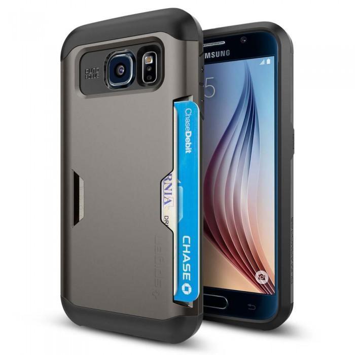 Купить Чехол-накладка Spigen Slim Armor CS SGP11335 для Samsung Galaxy S6 резина, пластик (Gunmetal)
