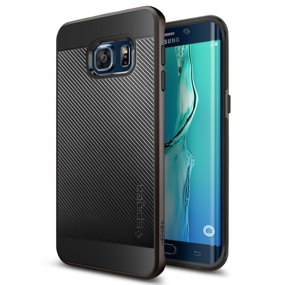 Чехол-накладка Spigen Neo Hybrid Carbon SGP11704 для Galaxy S6 Edge plus резина, пластик (Gunmetal) фото
