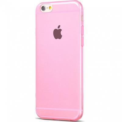 Чехол-накладка Hoco Light Series для Apple iPhone 6/6S силиконовый прозрачно-розовыйдля iPhone 6/6S<br>Чехол-накладка Hoco Light Series для Apple iPhone 6/6S силиконовый прозрачно-розовый<br>