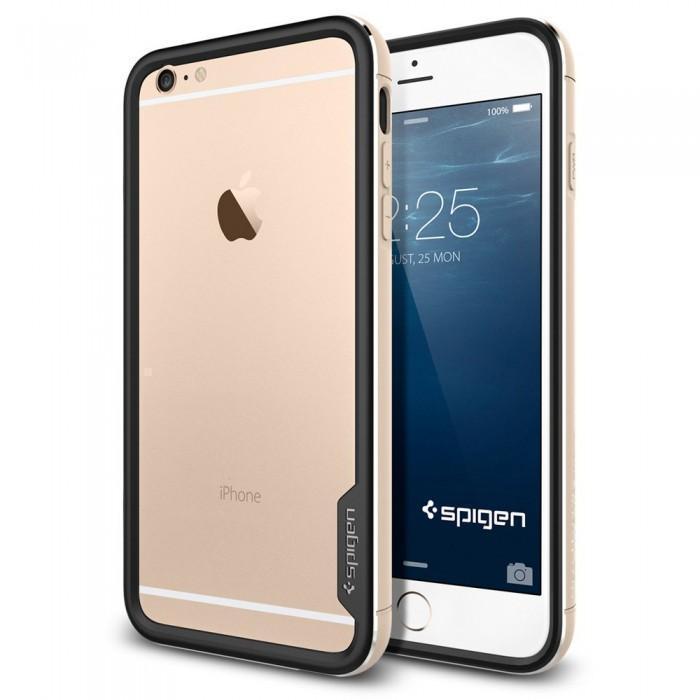 Чехол-бампер Spigen Neo Hybrid EX Metal для Apple iPhone 6 Plus/6S Plus Champagne Gold (SGP11192)для iPhone 6 Plus/6S Plus<br>Чехол-бампер Spigen Neo Hybrid EX Metal для Apple iPhone 6 Plus/6S Plus Champagne Gold (SGP11192)<br>