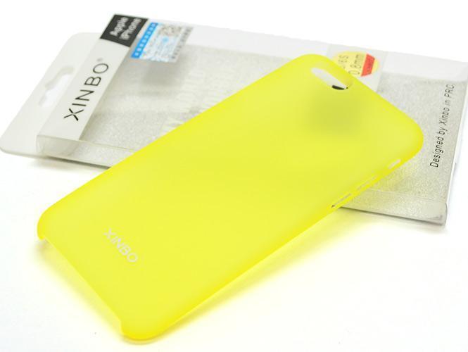 Чехол-накладка Xinbo 0.8mm для Apple iPhone 6/6S пластиковый желтыйдля iPhone 6/6S<br>Чехол-накладка Xinbo 0.8mm для Apple iPhone 6/6S пластиковый желтый<br>
