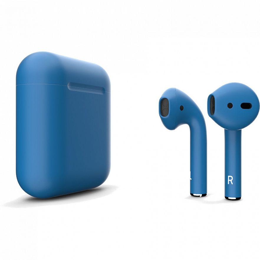 Беспроводная гарнитура Apple AirPods 2 (Matte Blue)