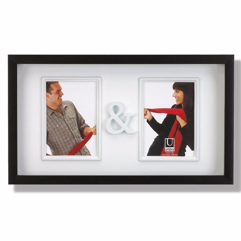 Картинка для Umbra Рамка для двух фотографий You&Me две фотографии размером 13х18 см