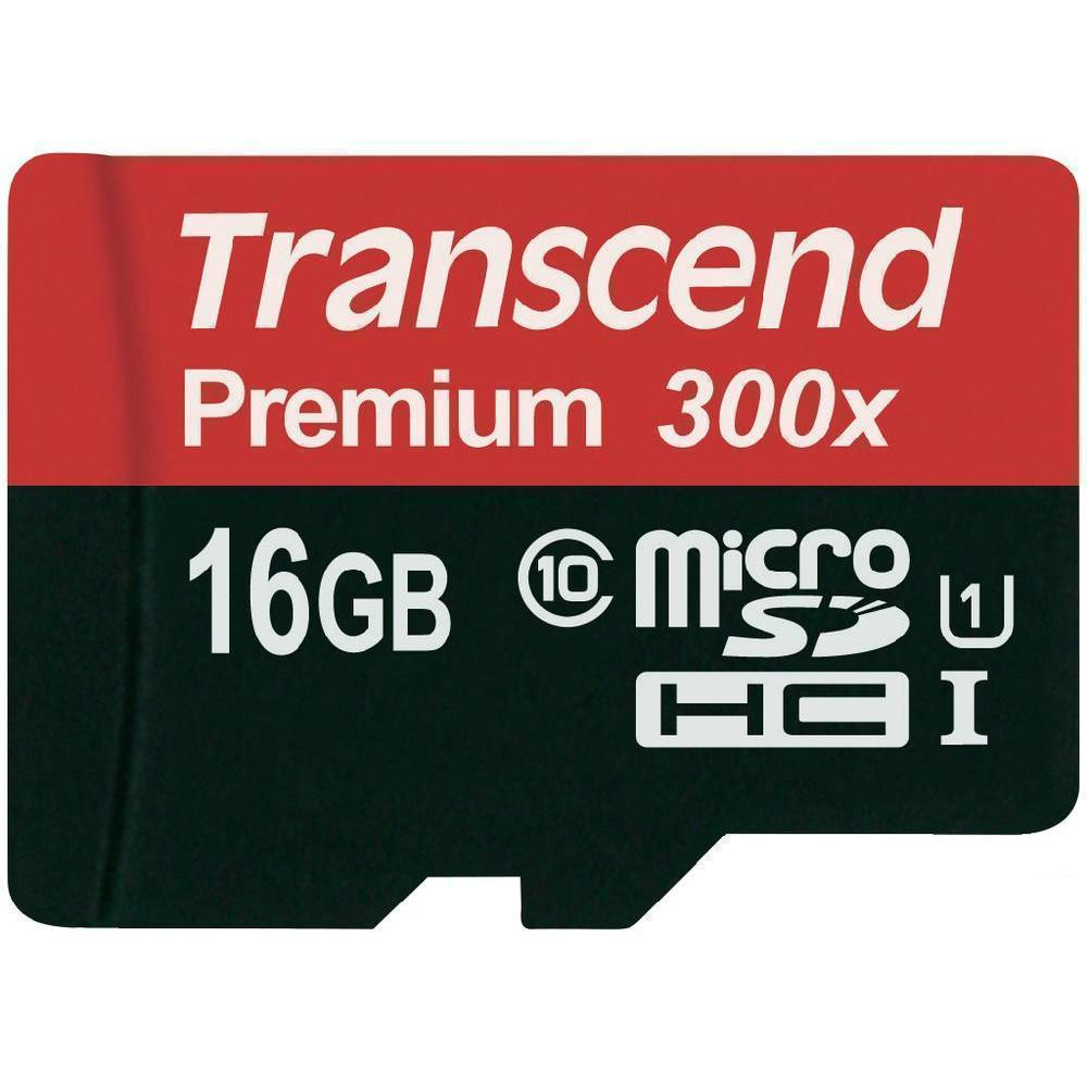 Карта памяти Transcend microSDHC Class10 UHS-I 45MB/s 16GB (TS16GUSDU1)microSD<br>Карта памяти Transcend microSDHC Class10 UHS-I 45MB/s 16GB (TS16GUSDU1)<br>