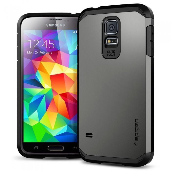 Чехол-накладка Spigen Tough Armor SGP10762 для Samsung Galaxy S5 резина, пластик (бронзовый)для Samsung<br>Чехол-накладка Spigen Tough Armor SGP10762 для Samsung Galaxy S5 резина, пластик (бронзовый)<br>