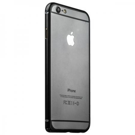 Чехол-бампер iBacks Essence Series для Apple iPhone 6/6S алюминиевый (ip60006) Gold Edge Blackдля iPhone 6/6S<br>Чехол-бампер iBacks Essence Series для Apple iPhone 6/6S алюминиевый (ip60006) Gold Edge Black<br>