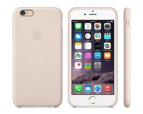 Купить со скидкой Чехол-накладка Apple Leather Case для iPhone 6 Plus/6S Plus натуральная кожа Soft Pink (MGQW2ZM/A)