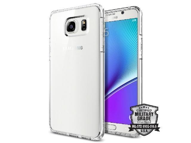 Чехол-накладка Spigen Ultra Hybrid SGP11684 для Samsung Galaxy Note 5 пластик силикон прозрачныйдля Samsung<br>Чехол-накладка Spigen Ultra Hybrid SGP11684 для Samsung Galaxy Note 5 пластик силикон прозрачный<br>