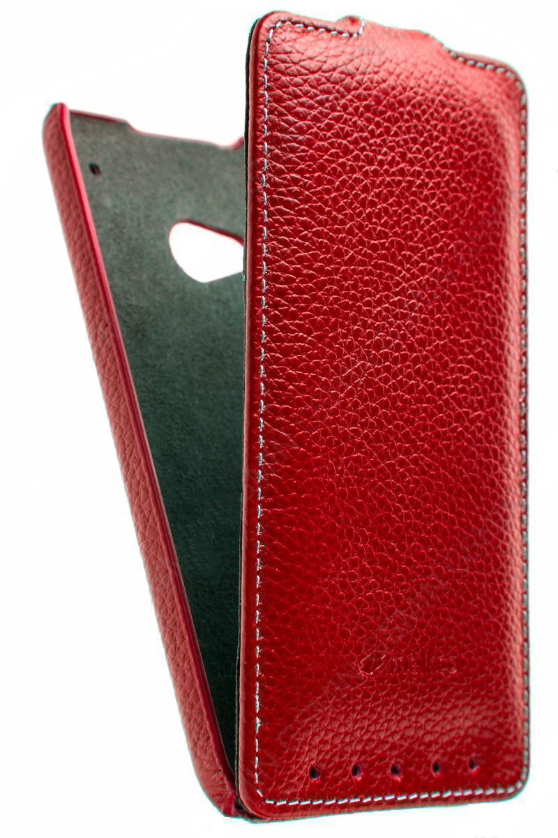 Чехол-книжка Melkco для HTC One mini искусственная кожа (красный) фото