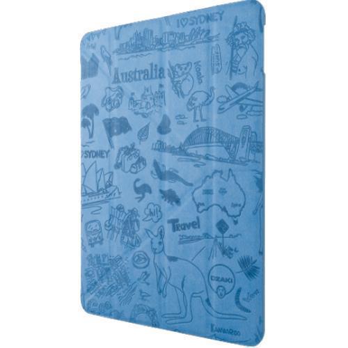 Чехол-книжка Ozaki O!coat Travel Sidney для Apple iPad Air 2 (полиуретан с подставкой) Blue