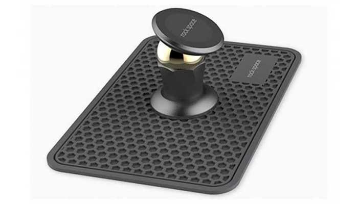 Держатель автомобильный Rock Magnetic Ball Joint магнитный на торпеду для телефона серый (RPH0806)Держатель на стекло или торпеду<br>Держатель автомобильный Rock Magnetic Ball Joint магнитный на торпеду для телефона серый (RPH0806)<br>
