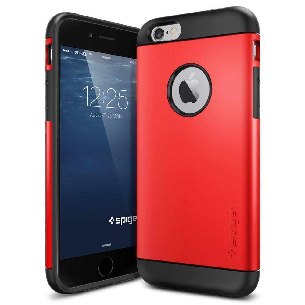 Чехол-накладка Spigen Slim Armor для Apple iPhone 6/6S (SGP10956) пластик, резина Electric Redдля iPhone 6/6S<br>Чехол-накладка Spigen Slim Armor для Apple iPhone 6/6S (SGP10956) пластик, резина Electric Red<br>