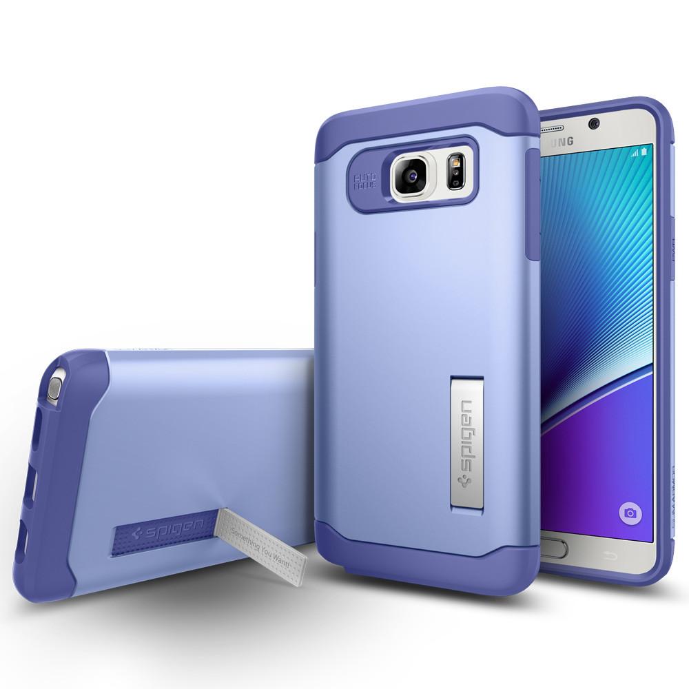 Чехол-накладка Spigen Slim Armor SGP11688 для Samsung Galaxy Note 5 резина, пластик (фиолетовый) фото