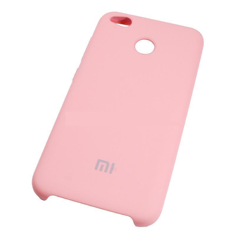 Купить Чехол-накладка Silicone Cover для Xiaomi Redmi 5A силиконовый (пудровый)