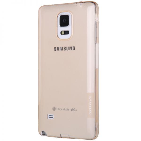 Чехол-накладка Nillkin Nature 0.6mm для Samsung Galaxy Note 4 SM-N910 силиконовый прозрачно-золотойдля Samsung<br>Чехол-накладка Nillkin Nature 0.6mm для Samsung Galaxy Note 4 SM-N910 силиконовый прозрачно-золотой<br>