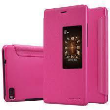 Чехол-книжка Nillkin Sparkle Series для Huawei P8 пластик-полиуретан (розовый)