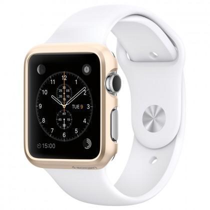 ����-���� Spigen Thin Fit SGP11490 ��� Apple Watch (38mm) Champagne Gold