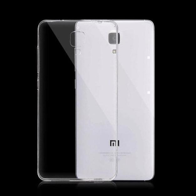 Чехол-накладка для Xiaomi Mi4 силиконовый с жесткой основой (прозрачный) фото