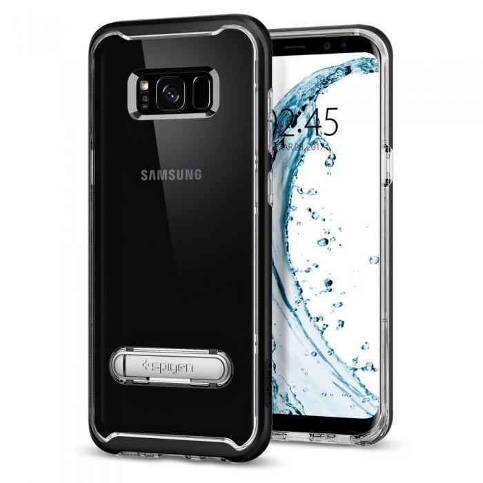 Чехол-накладка Spigen Crystal Hybrid для Samsung Galaxy S8 черный (SGP 565CS20835)для Samsung<br>Чехол-накладка Spigen Crystal Hybrid для Samsung Galaxy S8 черный (SGP 565CS20835)<br>